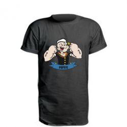 Удлиненная футболка Моряк Папай