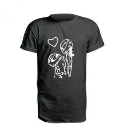 Удлиненная футболка MOTO LOVE