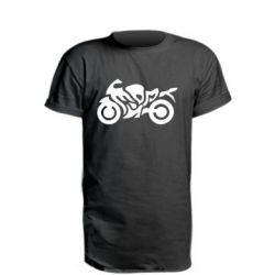 Удлиненная футболка MOTO SPORT - FatLine