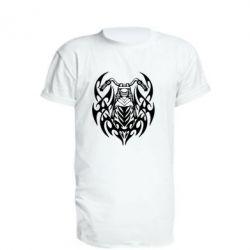 Удлиненная футболка Мотоцикл с кельтами