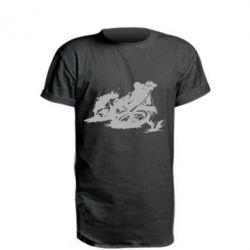 Подовжена футболка Мотокрос лого