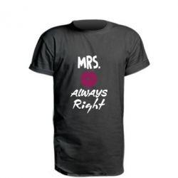 Подовжена футболка Mrs. always right