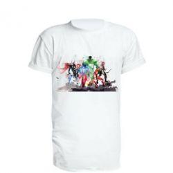 Удлиненная футболка Мстители Арт