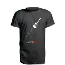 Подовжена футболка love Music