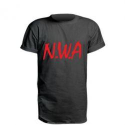 Удлиненная футболка N.W.A Logo