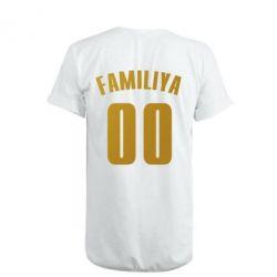 Удлиненная футболка Name and number (silver and gold)