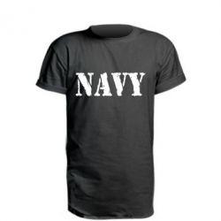 Подовжена футболка NAVY