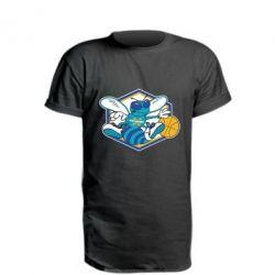 Удлиненная футболка New Orleans Hornets Logo - FatLine