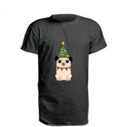 Подовжена футболка New Year's Pug