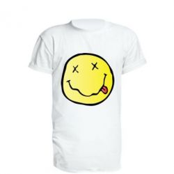 Подовжена футболка Nirvana Logo 3D