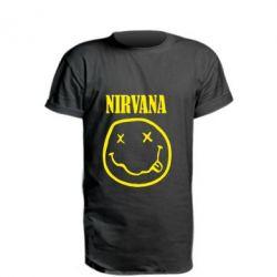 Удлиненная футболка Nirvana (Нирвана) - FatLine