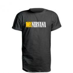 Удлиненная футболка Nirvana смайл