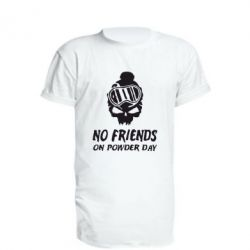 Удлиненная футболка No friends on powder day