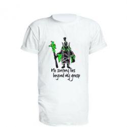 Удлиненная футболка no sorcery lies beyond my grasp - FatLine