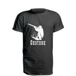 Удлиненная футболка Охотник - FatLine