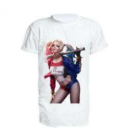 Удлиненная футболка Опасная Харли Квинн - FatLine