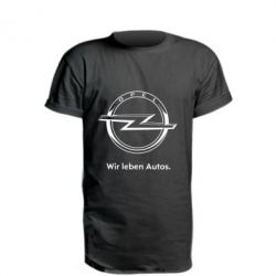 Удлиненная футболка Opel Wir leben Autos