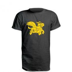 Удлиненная футболка Осел-курьер (Dota 2)