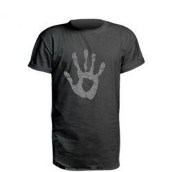 Удлиненная футболка Отпечаток руки