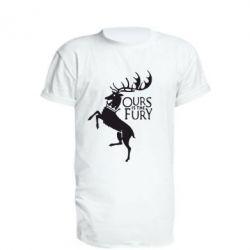 Удлиненная футболка Ours is the fury