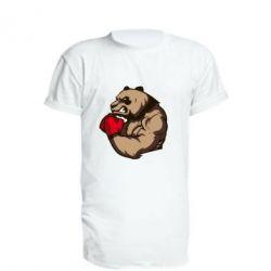Удлиненная футболка Panda Boxing