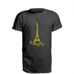 Париж (Paris), Удлиненная футболка Paris, FatLine  - купить со скидкой