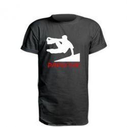 Удлиненная футболка Parkour Run