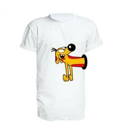 Удлиненная футболка Пес