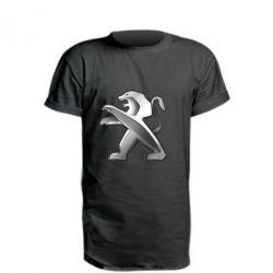 Подовжена футболка Peugeot Logo