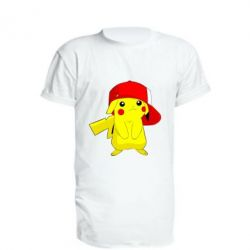 Удлиненная футболка Pikachu in a cap