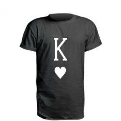 Подовжена футболка Playing Cards King