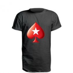 Подовжена футболка Poker Stars 3D Logo