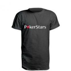 Подовжена футболка Покер Старс