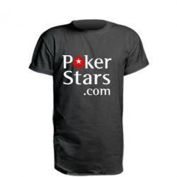 Удлиненная футболка Poker Stars