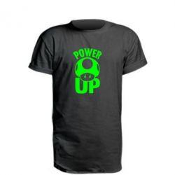 Удлиненная футболка Power Up гриб Марио