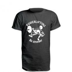 Удлиненная футболка Powerlifting be Stronger