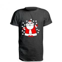 Подовжена футболка Прикольний дід мороз