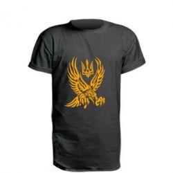 Подовжена футболка Птах та герб