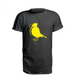 Удлиненная футболка Птичка с гранатой