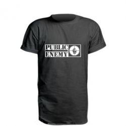 Подовжена футболка Public Enemy