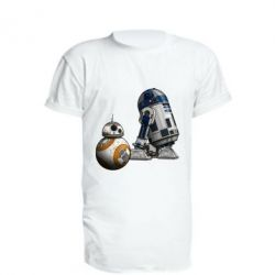 Удлиненная футболка R2D2 & BB-8 - FatLine