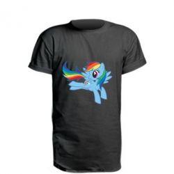 Подовжена футболка Rainbow Dash run - FatLine