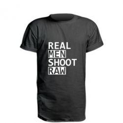 Подовжена футболка Real Men Shoot RAW