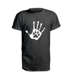 Удлиненная футболка Рука волка