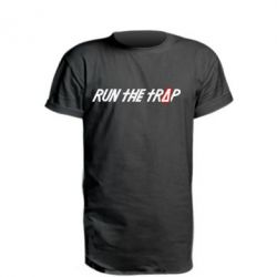 Удлиненная футболка Run the Trap #