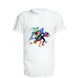 Подовжена футболка Run