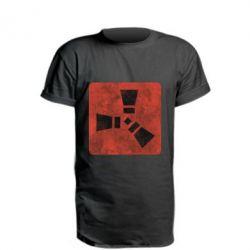Купить Удлиненная футболка Rust Logotype, FatLine