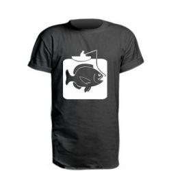Подовжена футболка Риба на гачку