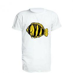 Удлиненная футболка рыбка - FatLine