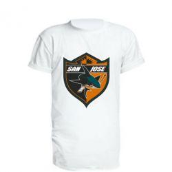 Подовжена футболка San Jose Sharks